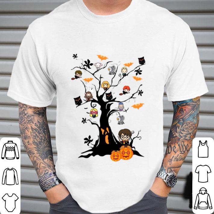 Harry Potter pumpkin ghost boo on the tree Halloween shirt