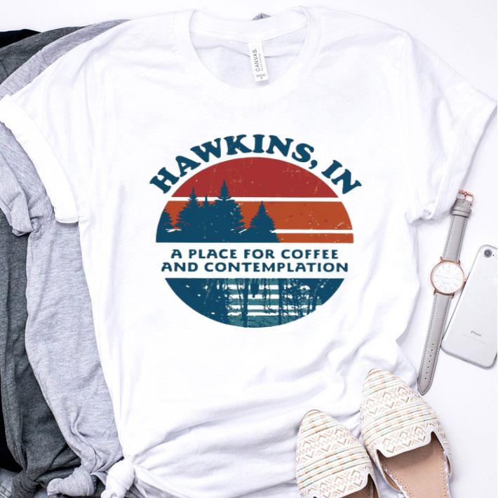 Hawkins in a place for coffee and contemplation sunset shirt