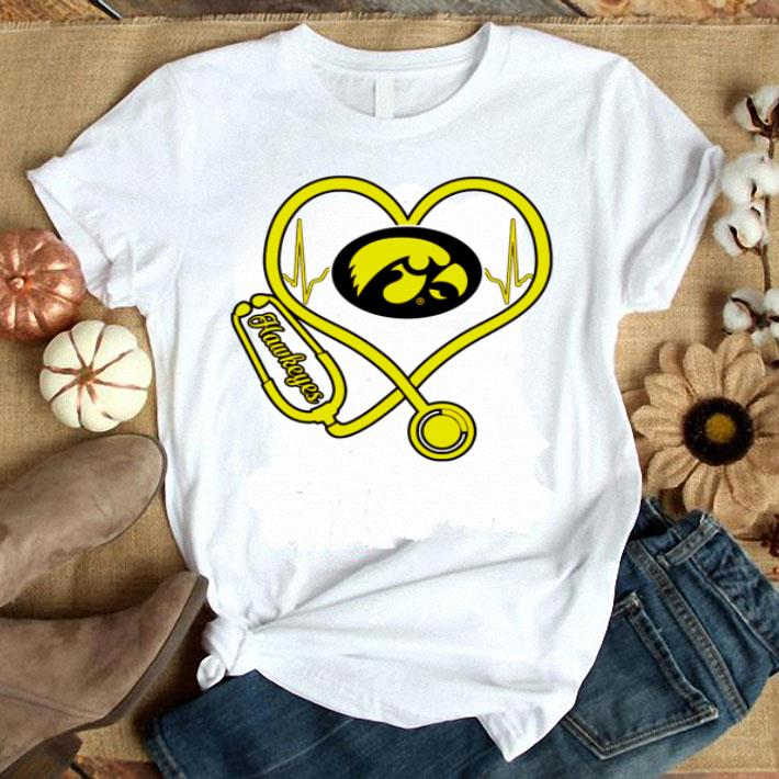 Heartbeat love Lowa Hawkeyes nurse shirt