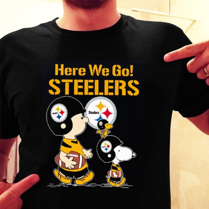 Here we go Steelers Snoopy Charlie Brown shirt