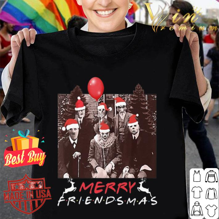 Horror Movie Characters Merry Friendsmas Christmas shirt