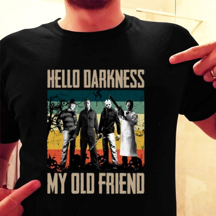 Horror characters Hello darkness my old friend vintage shirt