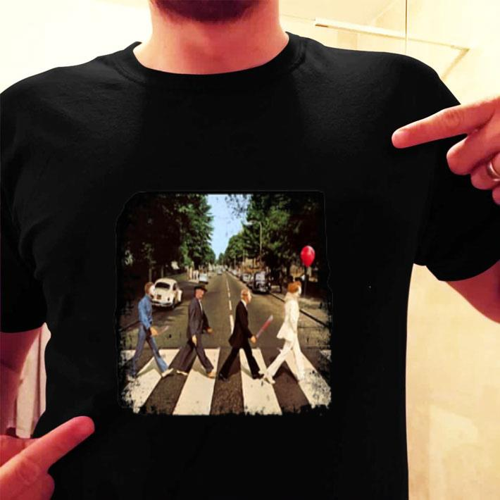 Horror film characters walking Abbey Road shirt