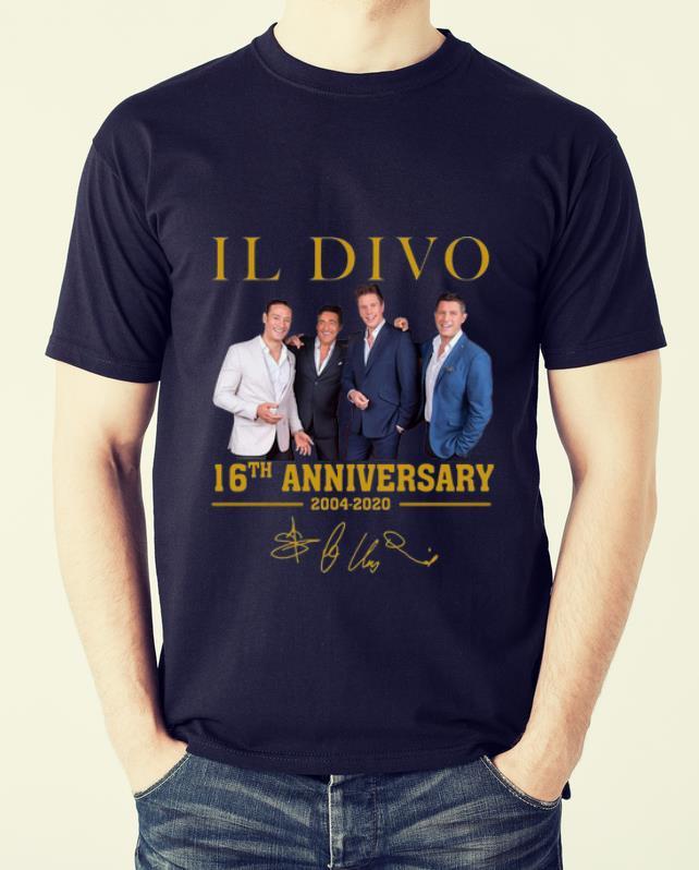 Hot Il Divo 16th Anniversary 2004 2020 Signature shirt
