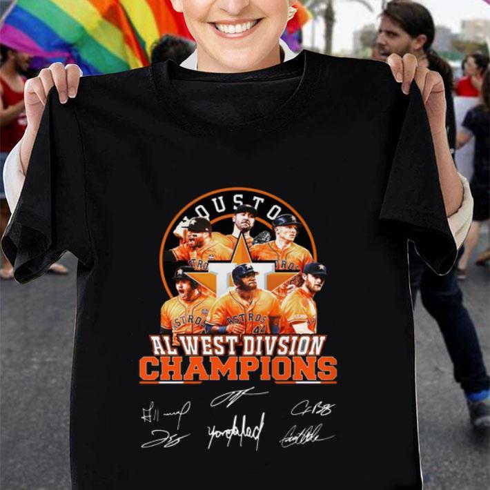 Houston Astros Al West Division Champions Signatures shirt