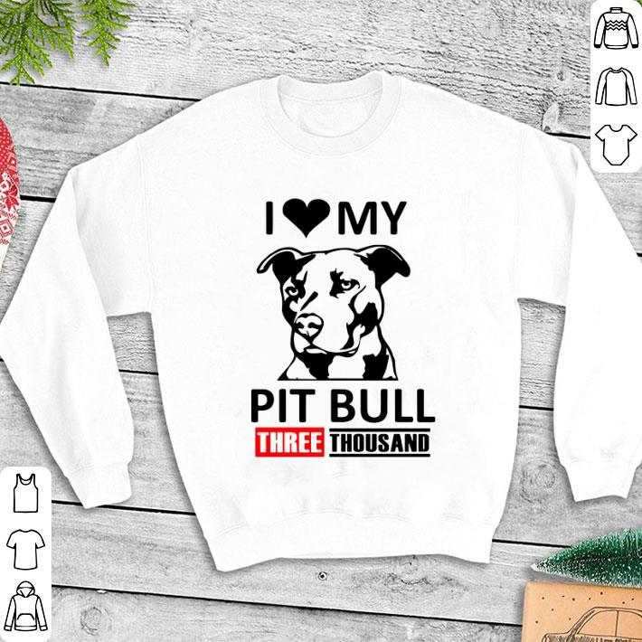 I love my Pit Bull three thousand Marvel Studios shirt 1