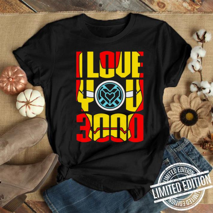 I love you 3000 Iron Man face Tony Stark and Daughter shirt