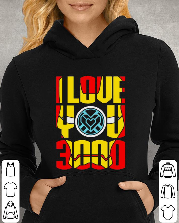 I love you 3000 Iron Man face Tony Stark and Daughter shirt, hoodie,  sweater, longsleeve t-shirt