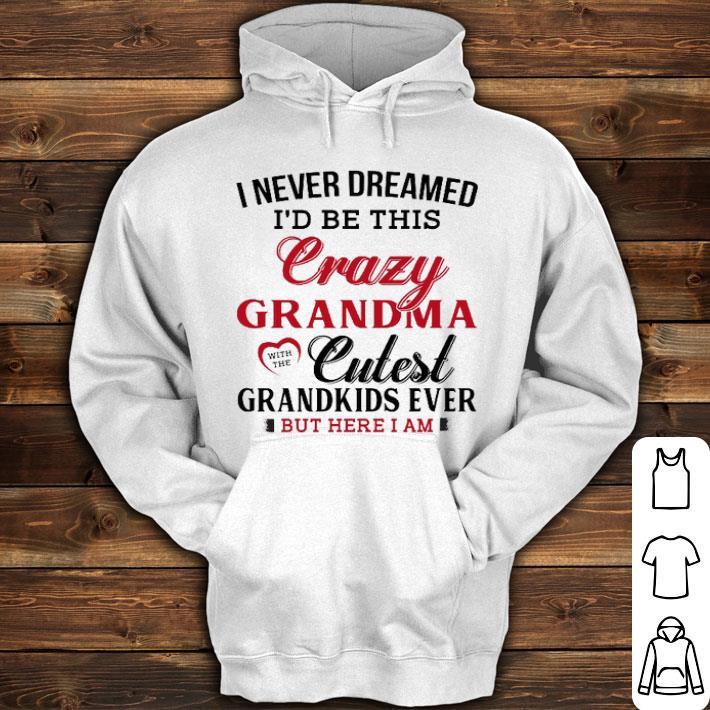 I never dreamed i'd be this crazy grandma cutest grandkids ever shirt