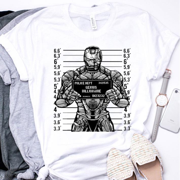 Iron man police dept genius billionaire shirt
