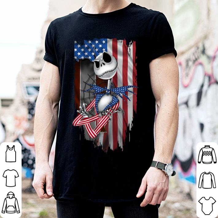 Jack Skellington American flag 4th of July shirt