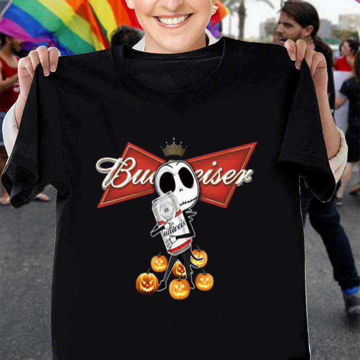 Jack Skellington hug Budweiser pumpkins shirt