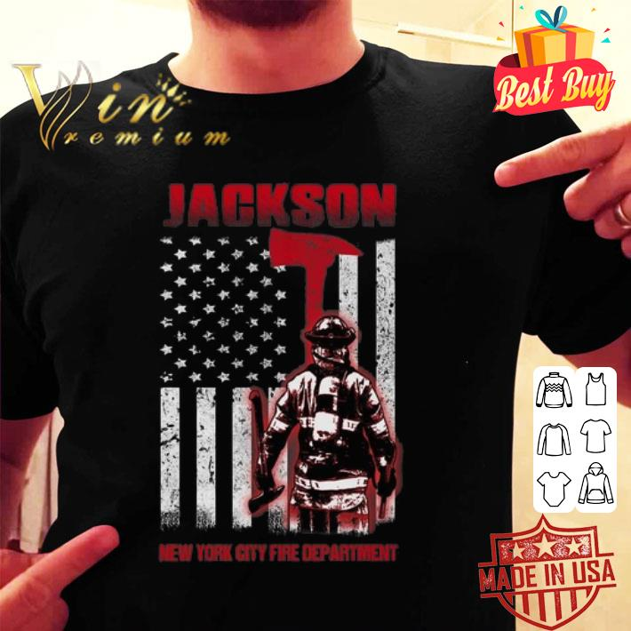 Jackson New York city fire department American flag shirt