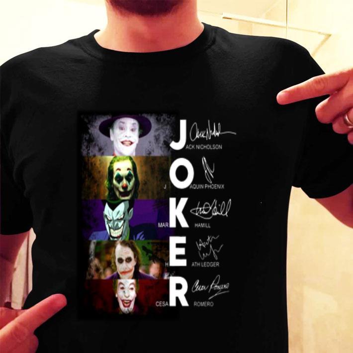 Joker Jack Nicholson Joaquin Phoenix Mark Hamill Heath Ledger shirt