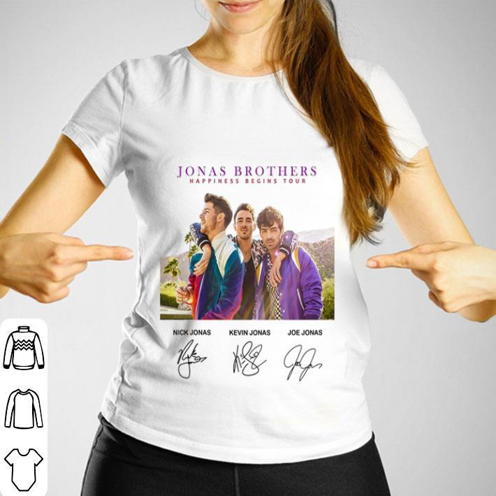Jonas Brother happiness begins tour signatures shirt