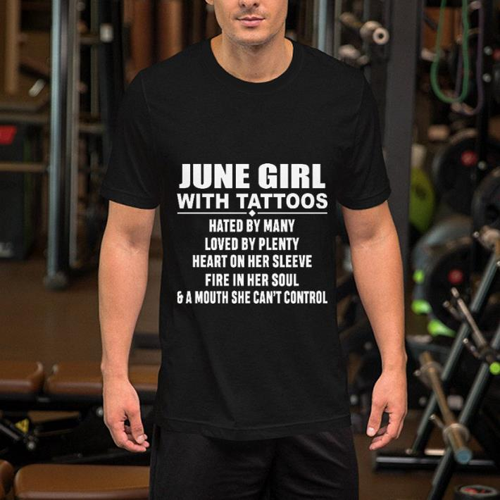 June girl with tattoos hated by many loved by plenty heart on her sleeve shirt 2