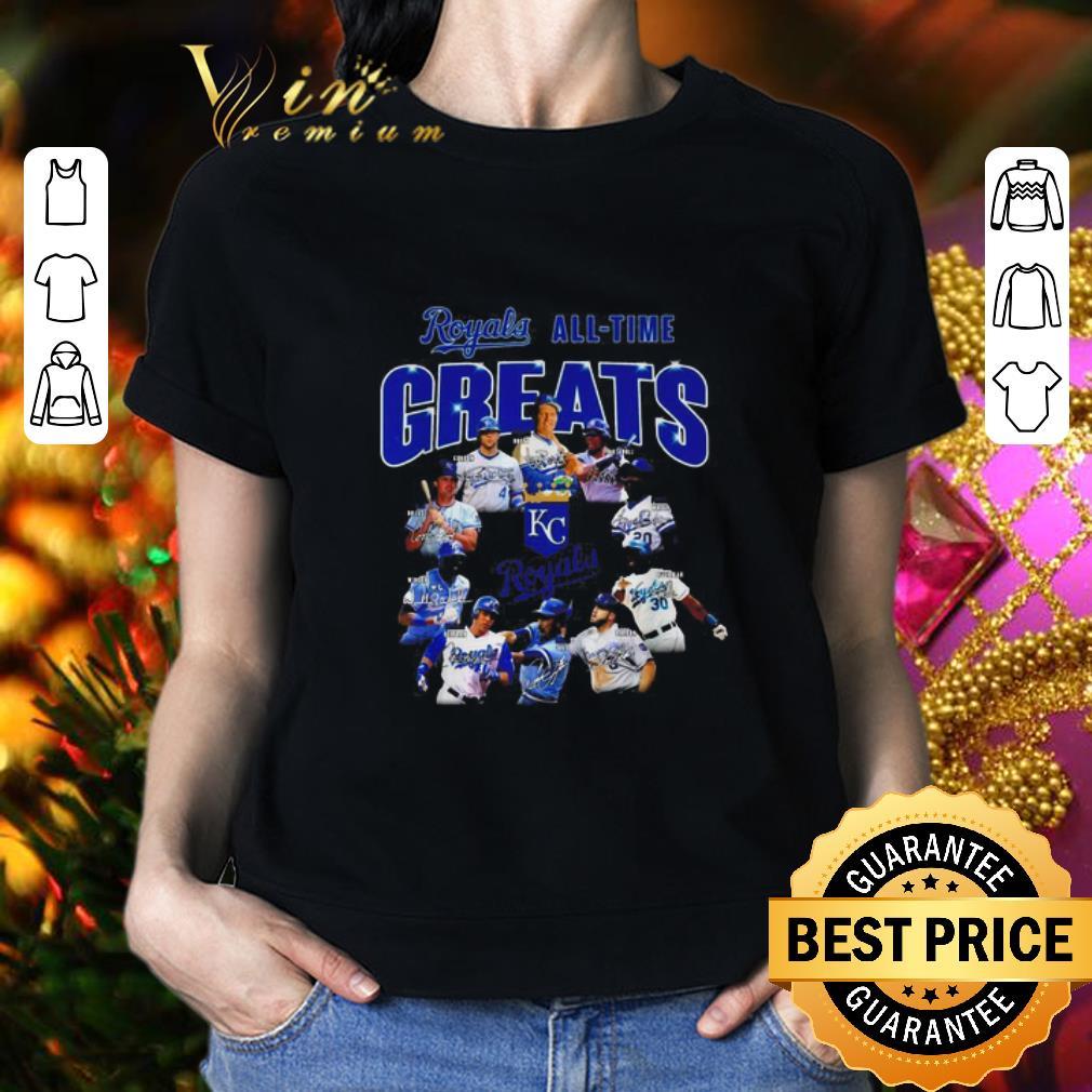 Kansas City Royals logo all-time greats legends signatures shirt