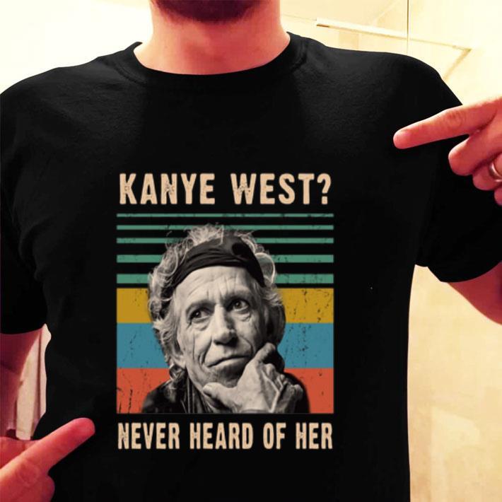 Keith Richards Kanye West never heard of her vintage shirt