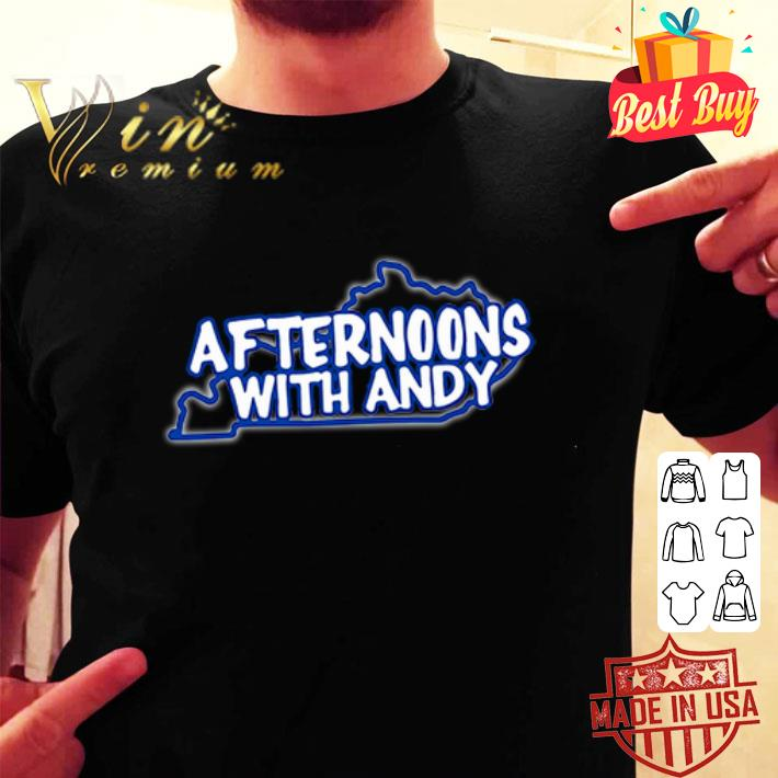 Kentucky map afternoons with andy shirt