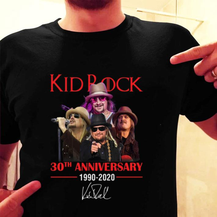 Kid Rock 30th anniversary 1990-2020 signature shirt