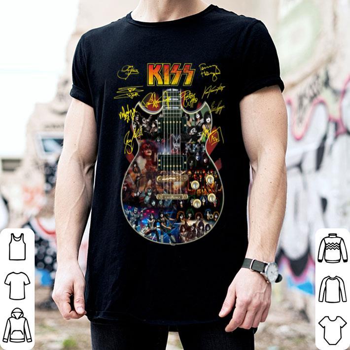 Kiss signatures guitarist shirt