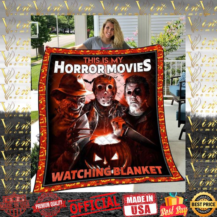 Krueger Jason Myers This is my horror movies watching blanket quilt