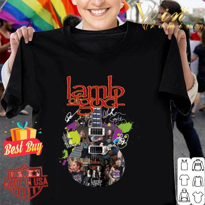 Lamb Of God Guitar colors Signatures shirt
