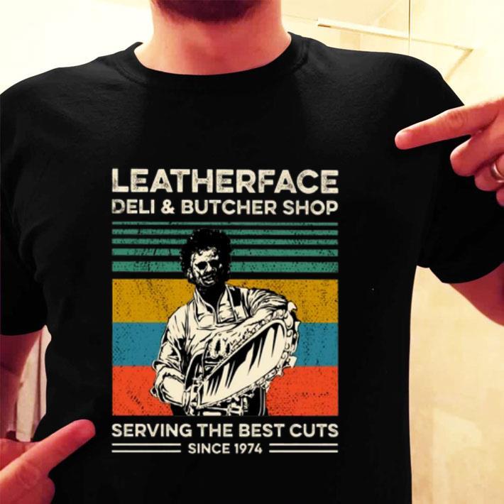 Leatherface deli & butcher shop serving the best cuts vintage shirt