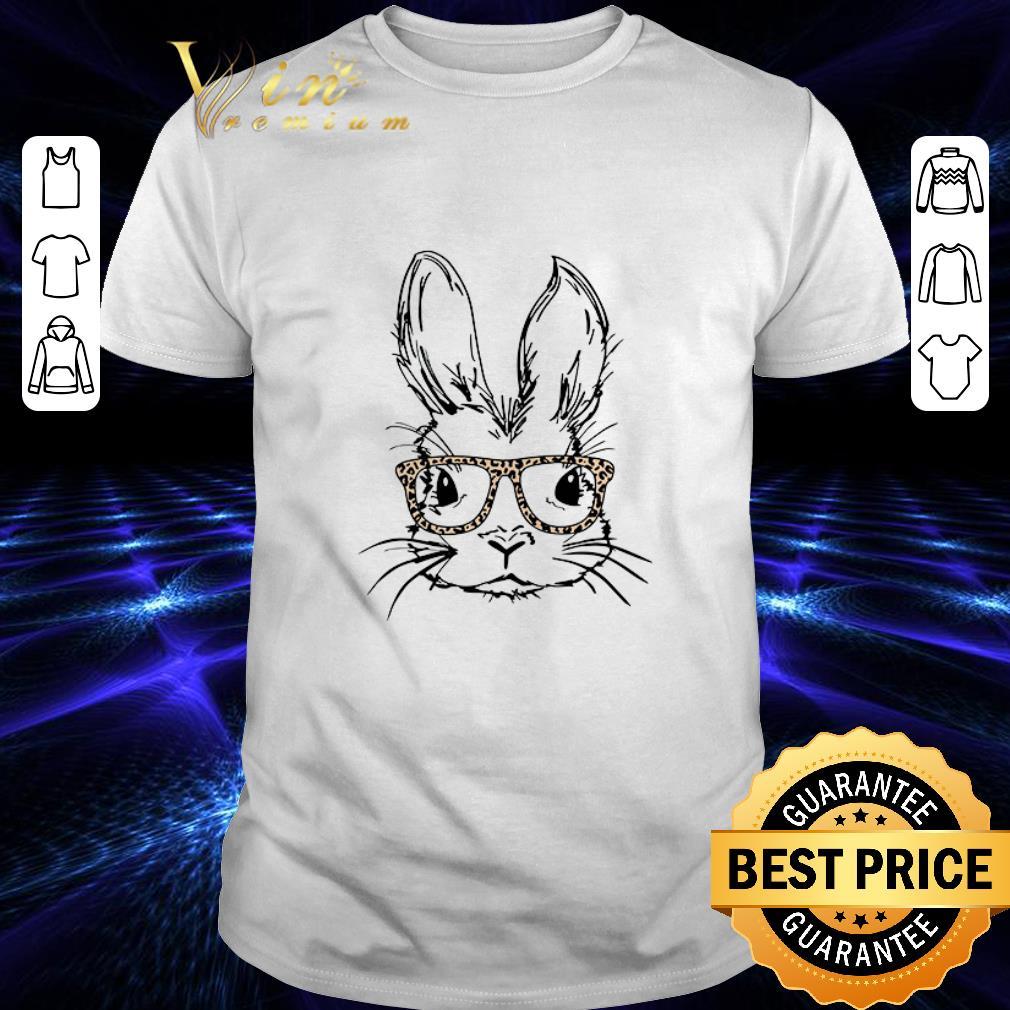 Leopard Rabbit sunglasses Easter day shirt