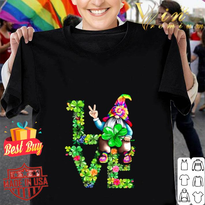 Love Hippie Gnome Happy St Patrick's Day shirt