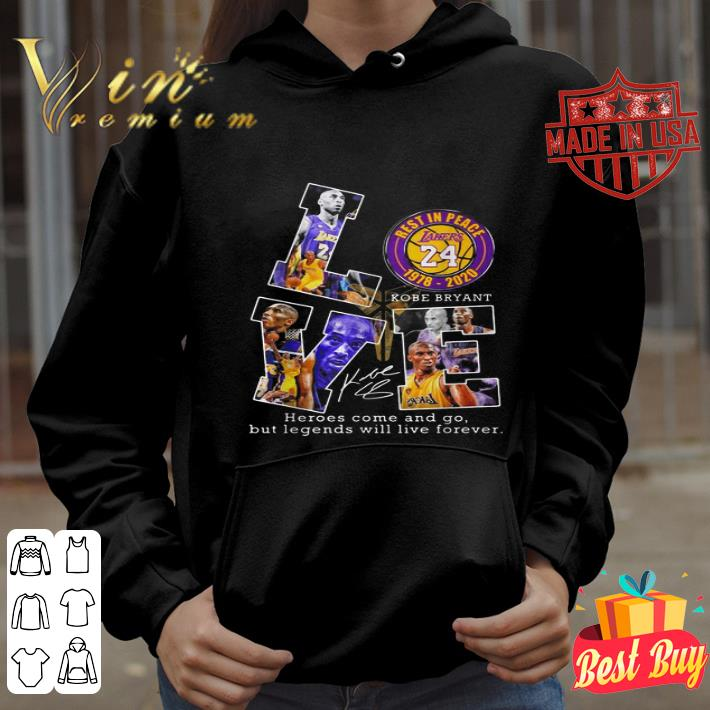 Love rest in peace 24 Lakers Kobe Bryant 1978-2020 siganture shirt