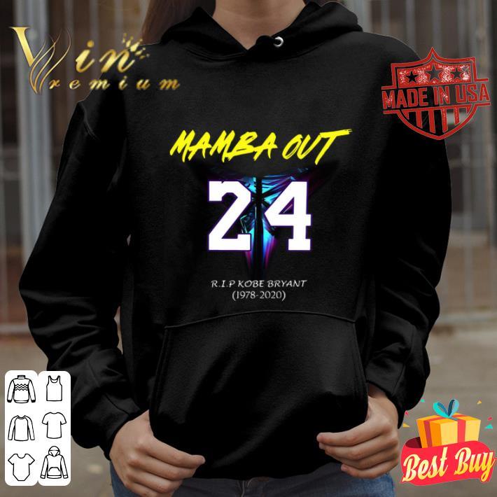 Mamba Out 24 R.I.P Kobe Bryant logo Black Mamba 1978 2020 shirt