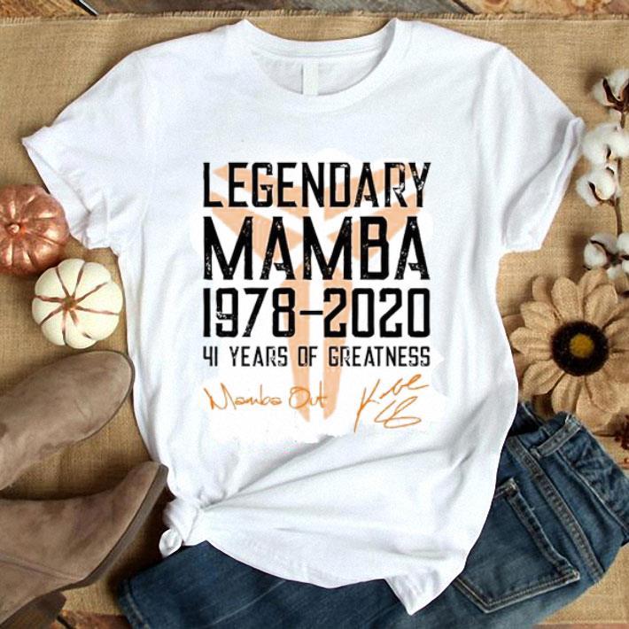 Mamba out Legendary Mamba 1978 2020 41 years of greatness shirt