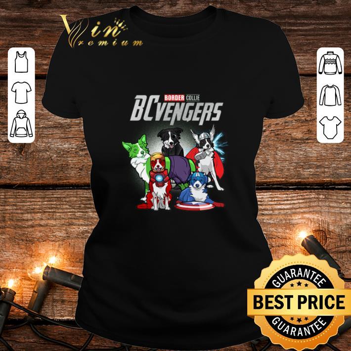 Marvel Avengers Endgame Border Collie dogs BCvengers shirt 2
