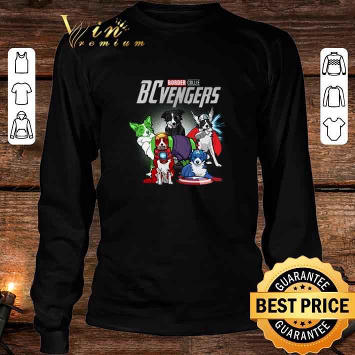 Marvel Avengers Endgame Border Collie dogs BCvengers shirt 3