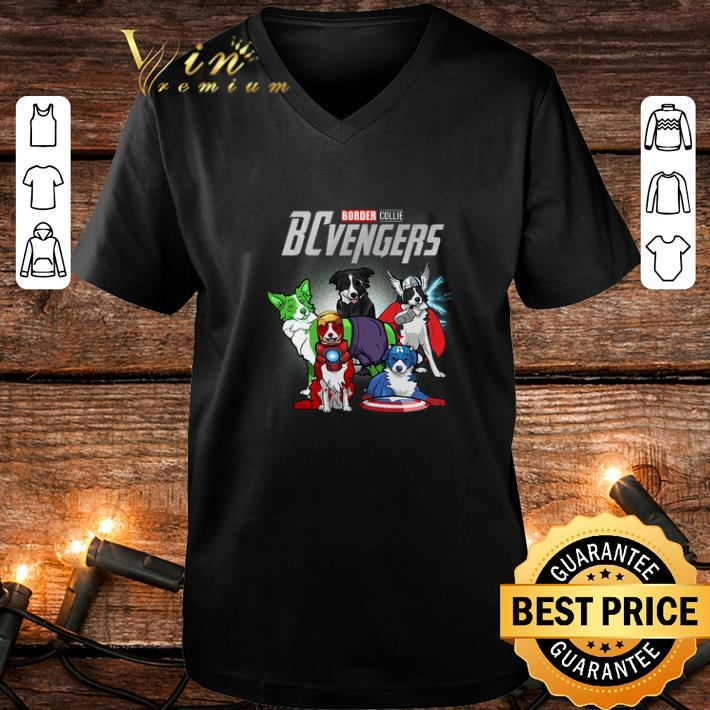 Marvel Avengers Endgame Border Collie dogs BCvengers shirt