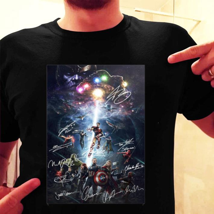 Marvel Superheroes Avengers Characters Signatures Poster shirt