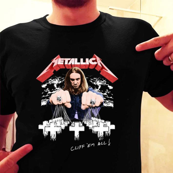 Metallica Cliff Burton Cliff em all shirt