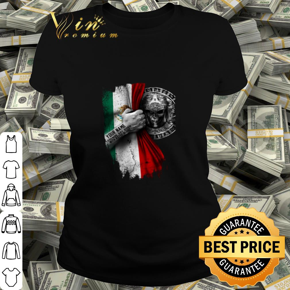 Mexico Flag Legends Are Born With Aztec Blood shirt