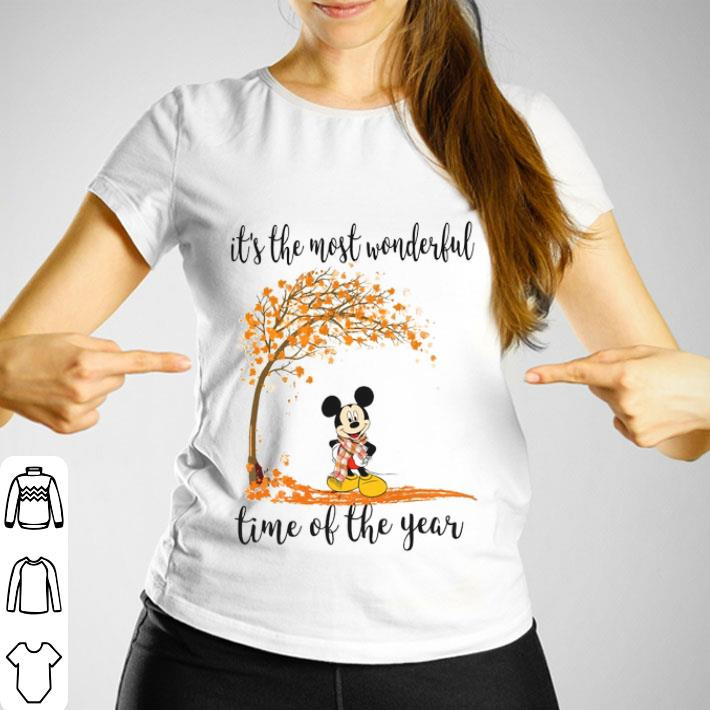 Mickey Autumn it's the most wonderful time of the year shirt
