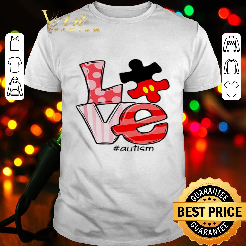 Mickey Mouse Disney Love #autism puzzle shirt