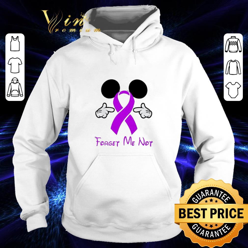 Mickey Mouse Forget me not Breast Cancer Awareness shirt