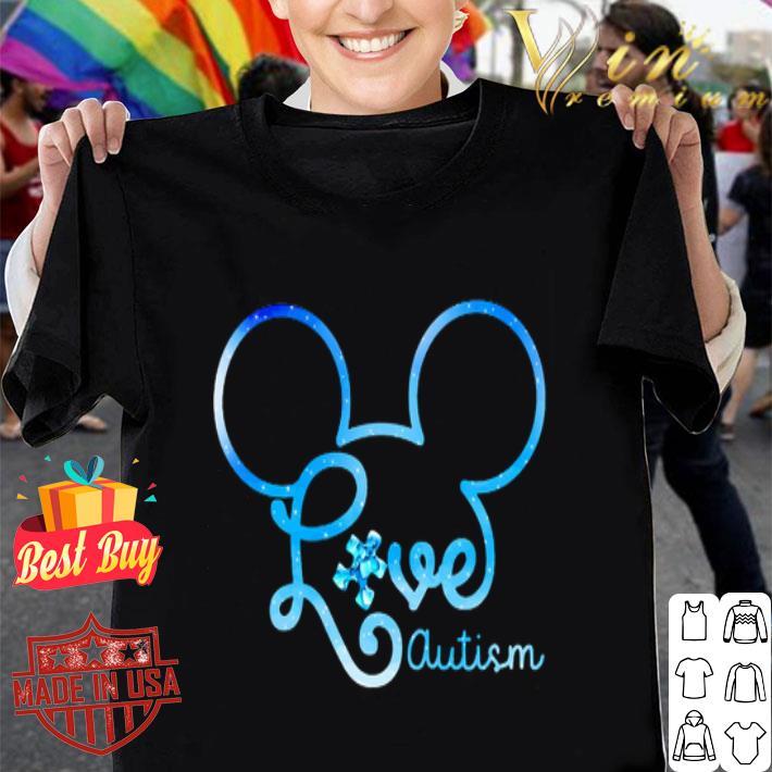 Mickey head love autism awareness shirt