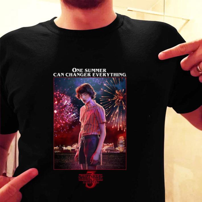 Mike Wheeler One Summer Can Change Everything Stranger Things 3 shirt