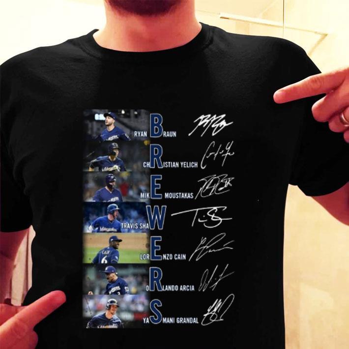 Milwaukee Brewers Ryan Braun Christian Yelich signatures shirt