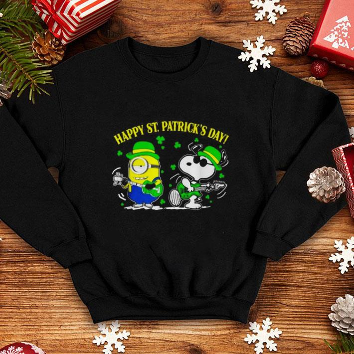 Minion and Snoopy Happy St. Patrick's Day shirt