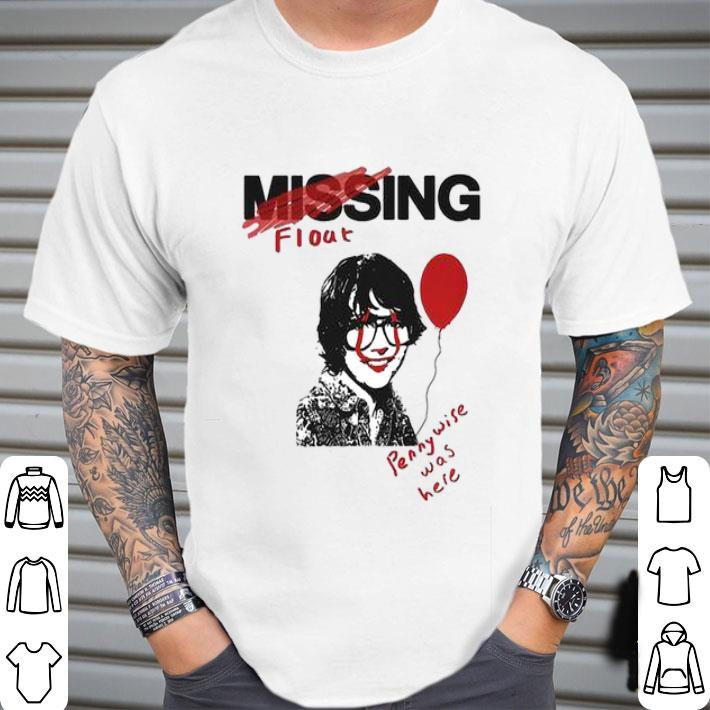 Missing float Richie Tozier Pennywise was here shirt