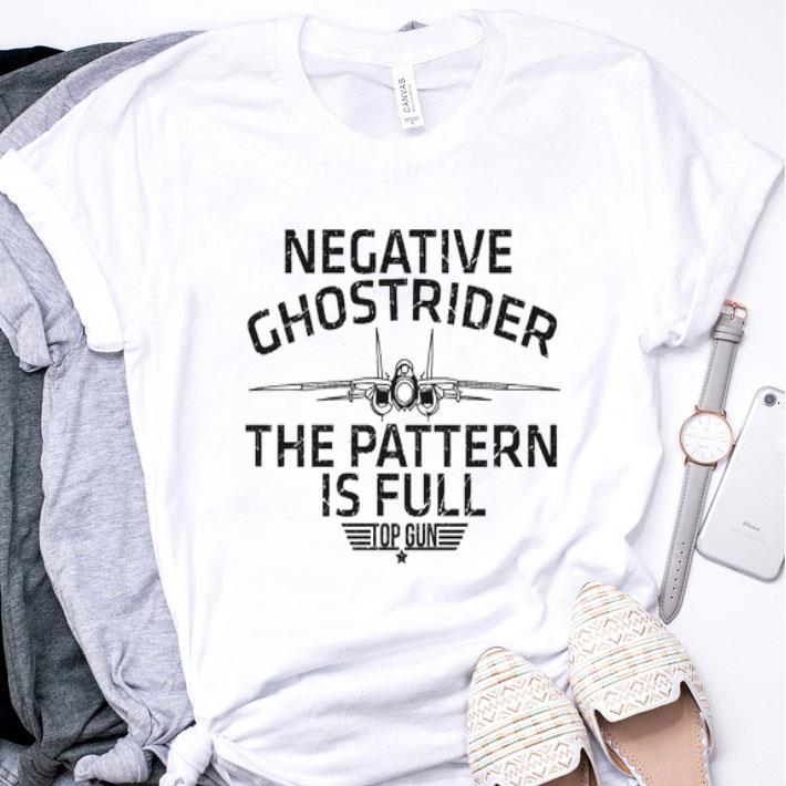 Negative ghostrider the pattern is full top gun shirt