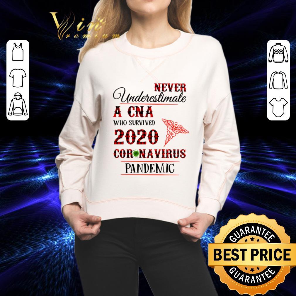 Never underestimate A CNA who survived 2020 coronavirus pandemic shirt 2