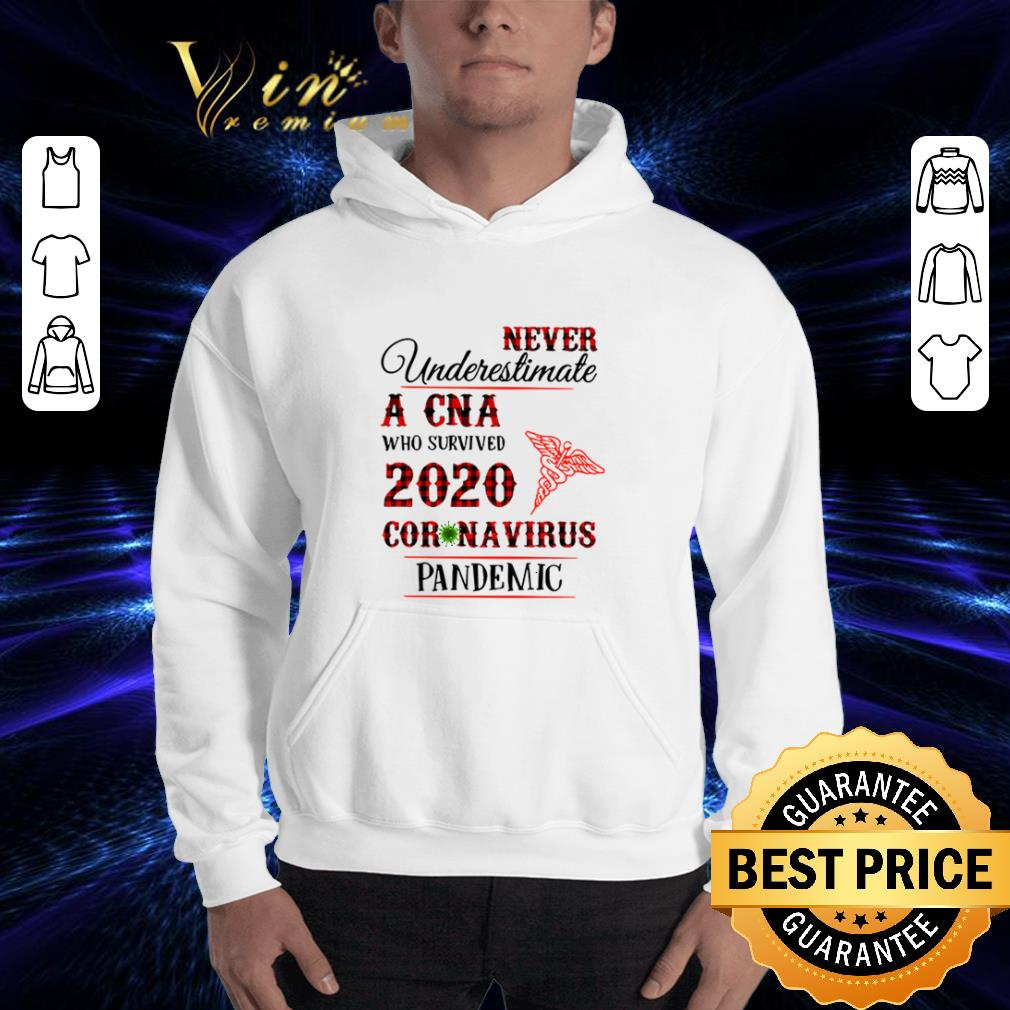 Never underestimate A CNA who survived 2020 coronavirus pandemic shirt 3